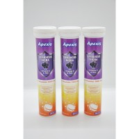 Apexis Sambucus+ 1000 mg C vit + Zink 20 Efervesan Tablet 3'lü Paket