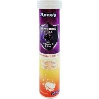 Apexis Sambucus+ 1000 mg C vit + Zink 20 Efervesan Tablet