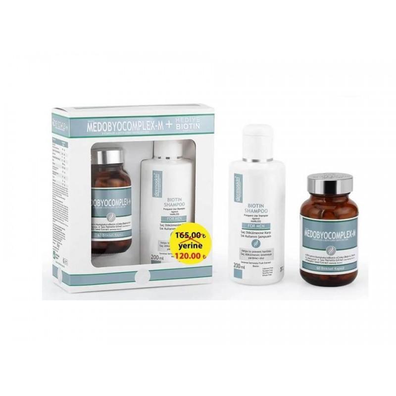 Dermoskin Medobiocomplex Erkek 60 Kapsül Biotin Şampuan Hediyeli